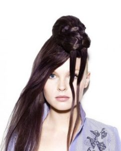 Crazy hairstyles for long hair brunette