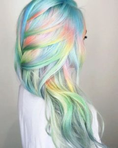 Crazy hairstyles for long hair rainbow