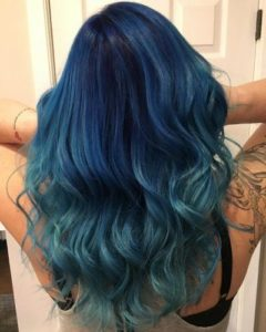 Fun and outgoing touch of color blue