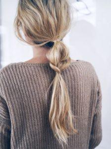 Half braid ponytai look