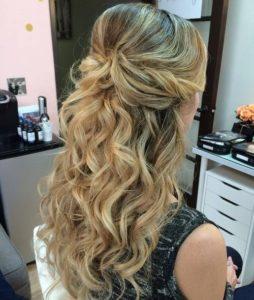 Half up half down hairstyles 2