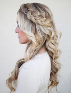 Half up half downhairstyles