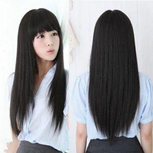 Long hair with bangs 2