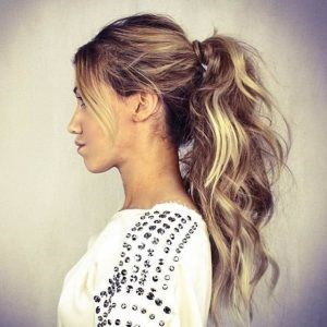Messy ponytail hairstyles 2