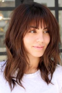 Mid length hairstyles with bangs 2