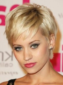 Pixie hairstyles blonde