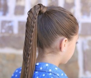 Ponytail hairstyles with braids for girls