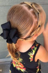 Ponytail with a headband