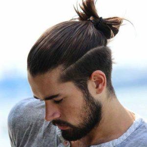 Shaved sides ponytail