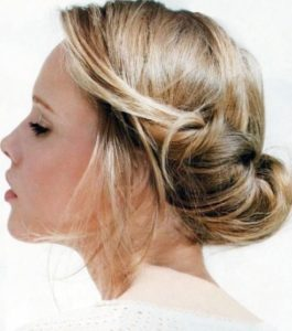Victorian Hairstyles for short hair bun