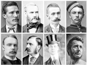 Victorian hairstyles for men b&w