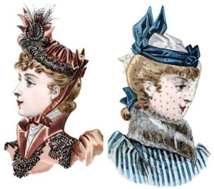 Victorian hairstyles with hats 2