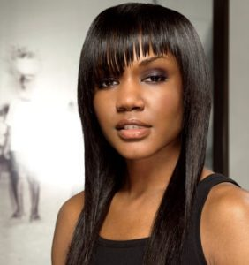 Weave hairstyles for women and girls with bang