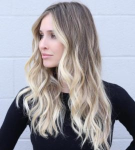angled ombre