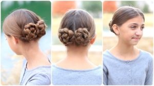 bridesmaids' hairstyle for girls