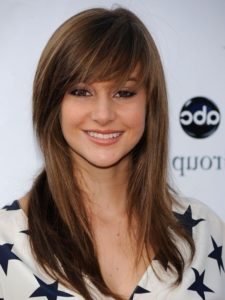 layered hairstyles side fringe