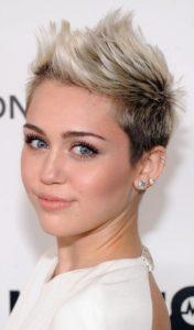 Punk hairstyle blonde
