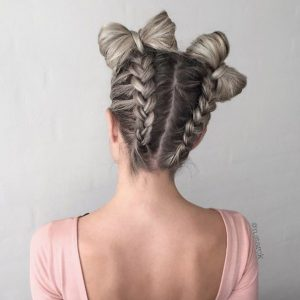 Bow Braided Hair