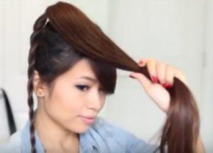 Bun hairstyles for long hair steps