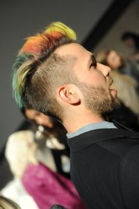 Dyed Hairstyle for Men with Short Hair