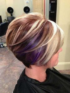 Dyed Hairstyle for Women with Short Hair