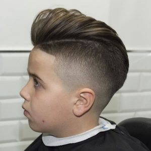 Faded hairstyle with Pompadour