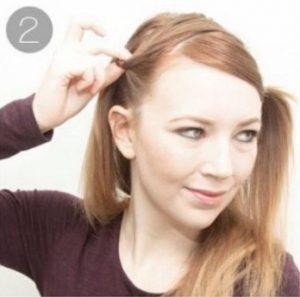 medieval hairstyles step 1