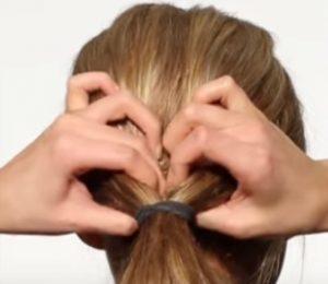 ponytail for bun
