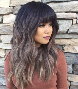 some bangs and a color fade